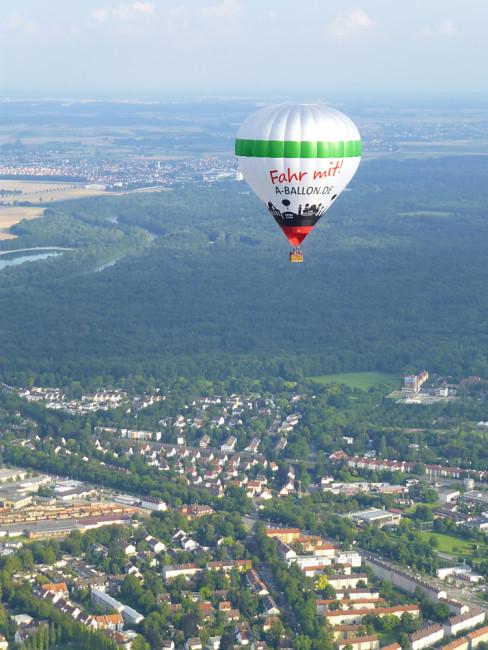 Ballon über Augsburg